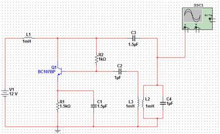 Схема LC-генератора