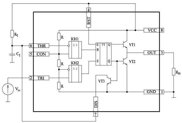 схема таймера КР1006ВИ1